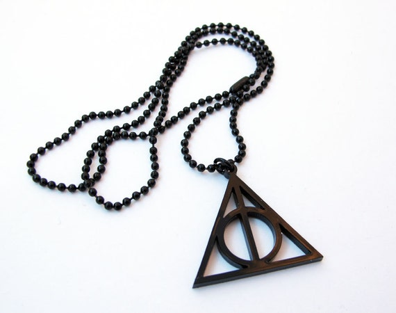 Harry Potter Deathly Hallows Pendant Necklace - SMALL