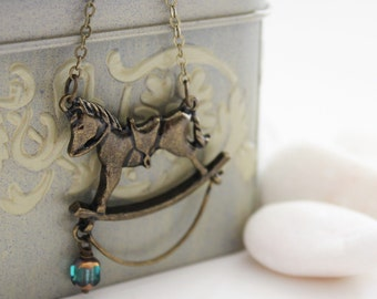 My Childhood Dream - Rocking Horse Necklace (VNL-16)