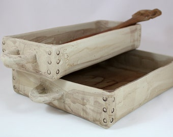 rectangular baking dish, ceramic baking dish, lasagna dish, wedding gift, housewarming gift,modern baking dish