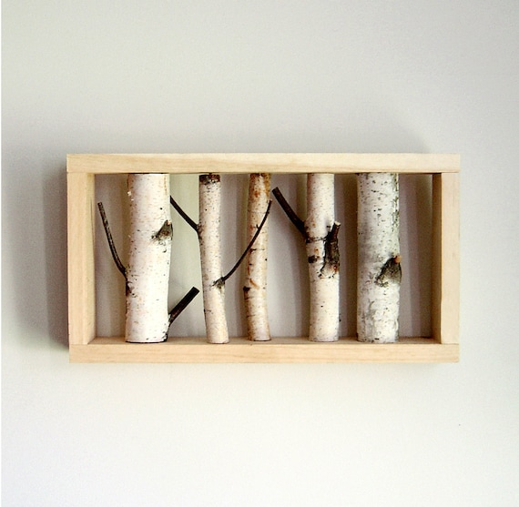 white birch forest - organic wall art - made to order