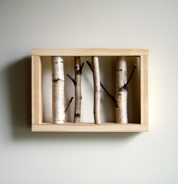 Reserved for bubi - white birch forest wall art & white birch wood coasters