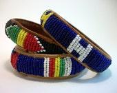 SALE Vintage Bracelets - Tribal Primary Color Beaded Bracelets WAS 25 NOW 15