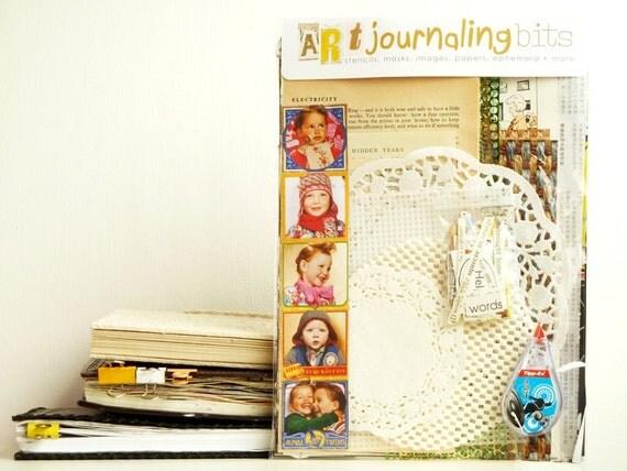 ART JOURNALING BITS - mixed paper, texture & stencil kit