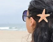 Shimmery Sugar Natural Starfish Bobby Pin, Mermaid Hair, Perfect For The Beach Girl, Beachside Wedding, Summer Vacation
