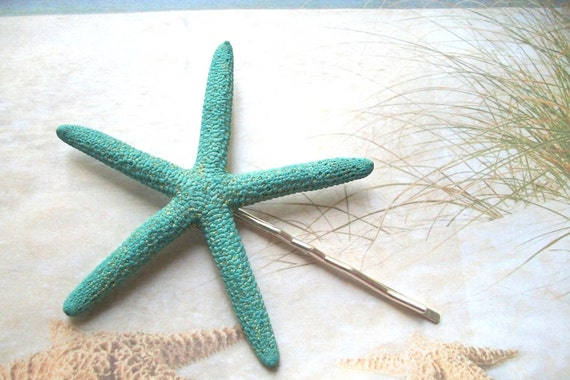 Shimmery Blue Finger Starfish - Mermaid Hair