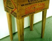 Shipping Crate Side Table (Cutty Shark Whisky) 12in. x 17in. x 26in. -- FREE SHIPPING
