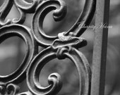 B LandMark Letter Architectural Letter B Iron Gate  Alphabet Photography
