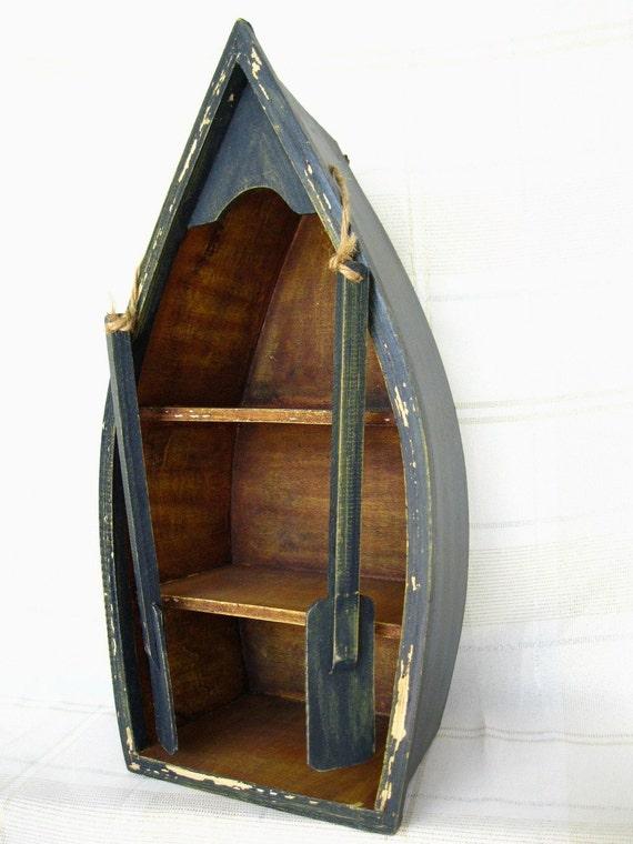 Maritime Decor: Canoe Shelf Hanging Boat Nautical Decor Small Curio Coupon