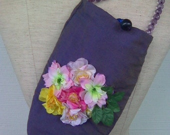 SALE Handmade Flora Reversible Hand Bag