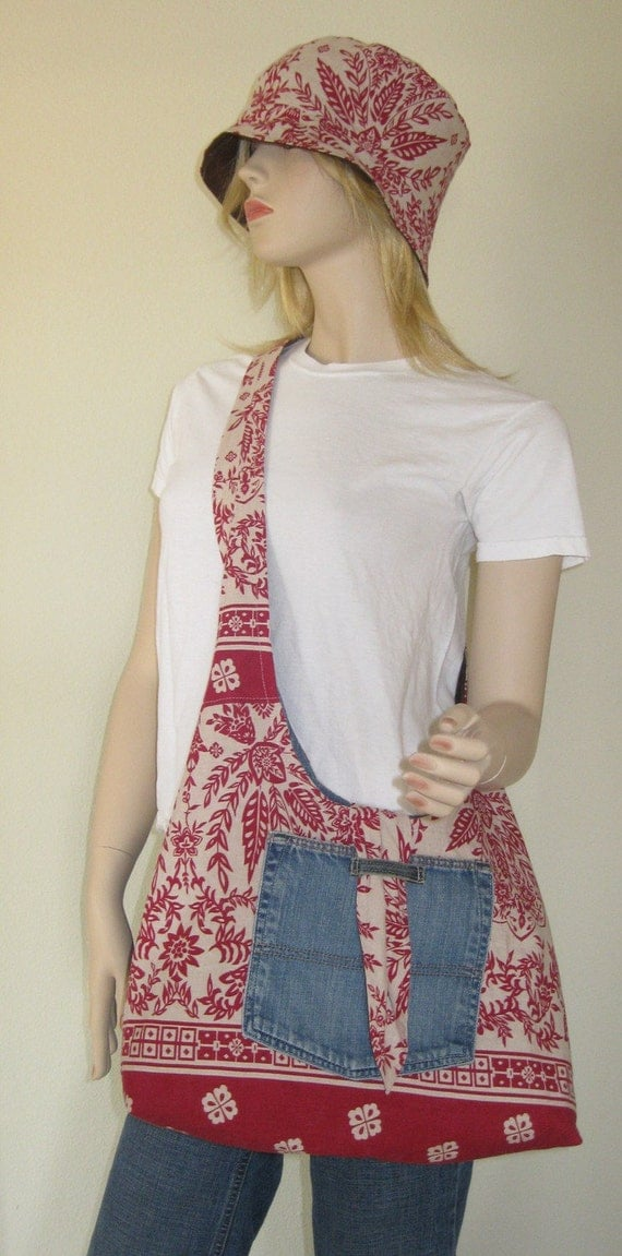 Two In One Linen and Denim Cross-body Purse 'The Hanky'
