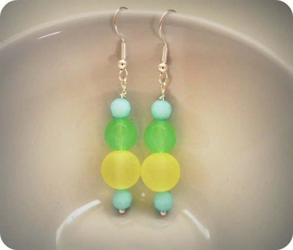 Kendall. a happy beachy beaded dangle by Lemon Kissed. free shipping