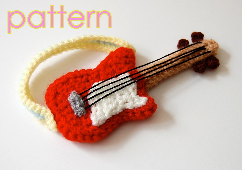 Amigurumi Hat Crochet Patterns : amigurumi pattern guitar by amieggs on Etsy