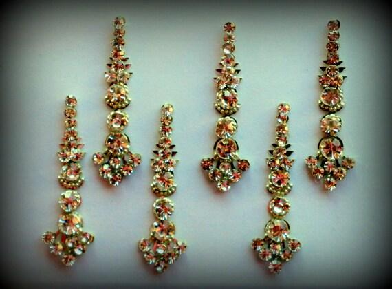 Bindi Self Adhesive Indian Dots Bollywood BellyDance Tattoo Body Art Golden Wedding & Bridal Fashion Jewelry