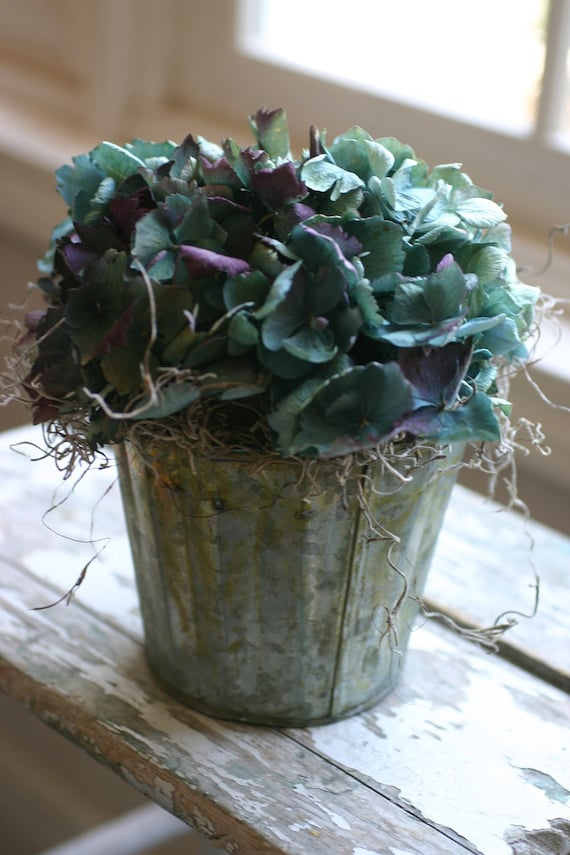 French market style dried floral blue by thebohemiangardener