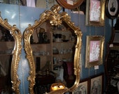 Italian rococo mirror, gilded wood
