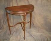 Victorian mahogany console table