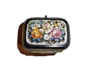 Antique Grand Venetian Tour Micromosaic pill box, jewelry box