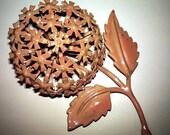 flower power enamel brooch, ca 1950