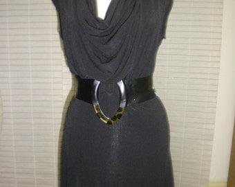 Cowl Neck Openback Dress