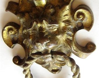 Antique Gothic Lion Pull