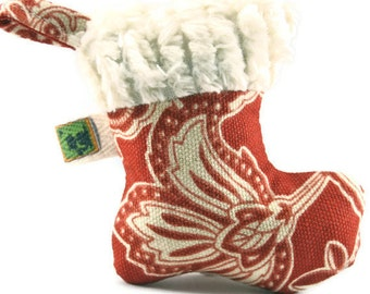Organic Catnip Red Christmas Stocking