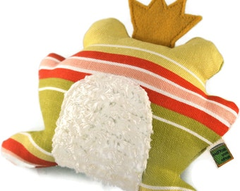Dog Toy Frog Prince - Extra Durable DOUBLE FABRIC LAYER Construction