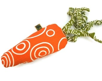 Extra Durable Tiny Dog Toy - Little Carrot 'DOUBLE FABRIC LAYER Construction'