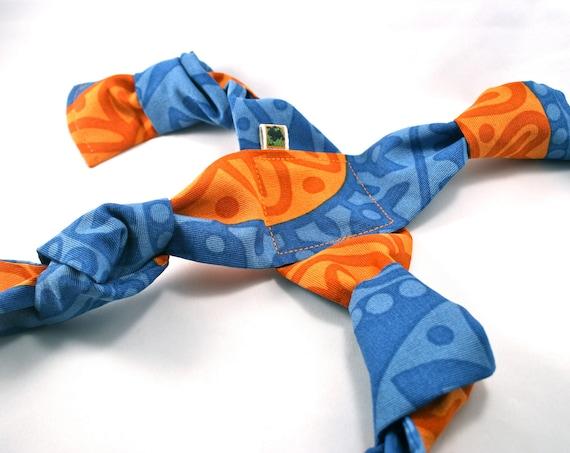 Handmade Tug Dog Toy - Blue/Orange
