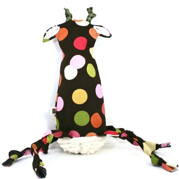 Dog Toy Giraffe - Recycled Water Bottle Toy