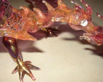 functional art glass- dragon sculpture oneie