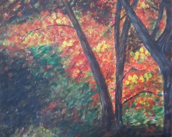 Deep in the Autumn Woods Signed ACEO Art Print