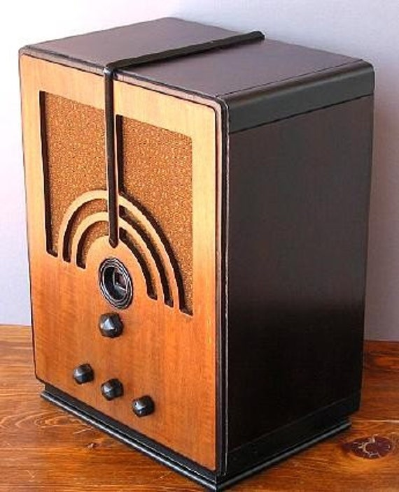 philco model 66b art deco radio 1935. Black Bedroom Furniture Sets. Home Design Ideas