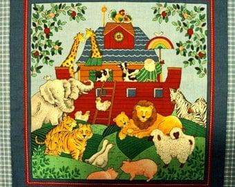 "Noah's Arc Fabric Panels - Set of 2 Panels - Pattern measures 14-1/2"" square"