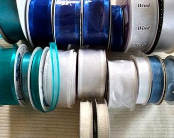 Wide Assortment of Bridal Wedding Destash Ribbon - Set of 18 rolls - 343 yards