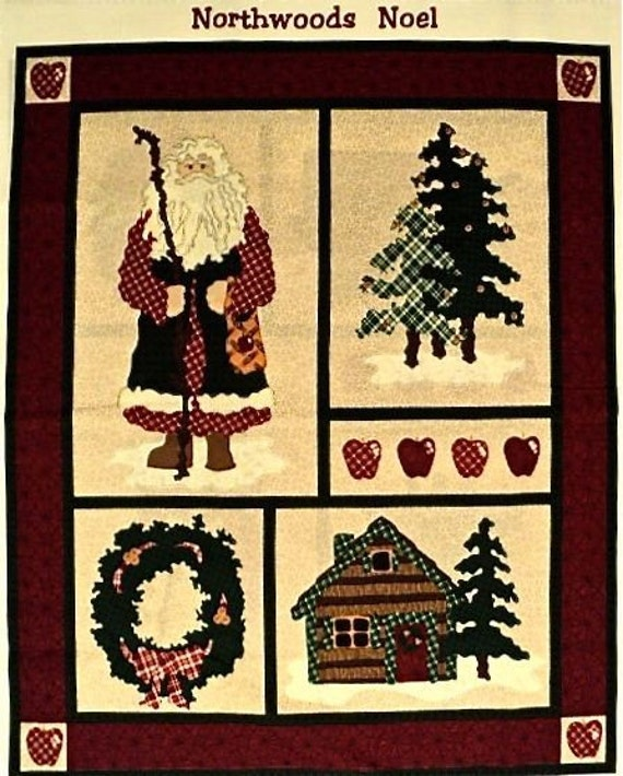 RESERVED FOR ANNIE - Christmas - Northwoods Noel Fabric Panel - 5 Panels