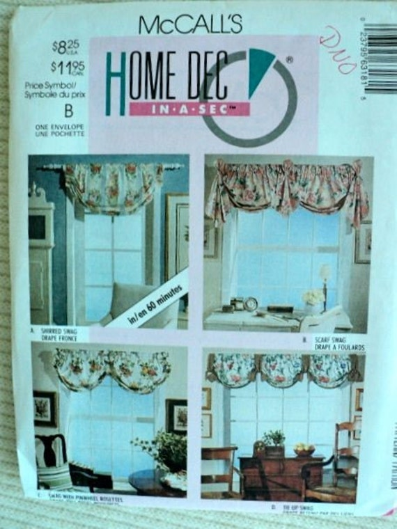 Swag curtains patterns mccall s home decor