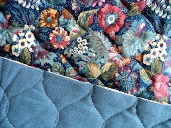 Double Faced Floral Quilted Fabric 3 4 Yard