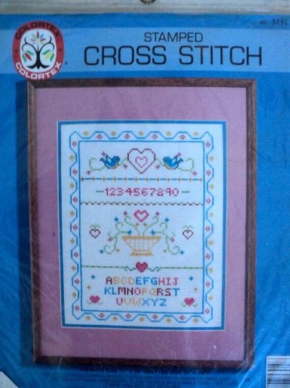 Vintage - Sampler Stamped Cross Stitch Kit - Colortex