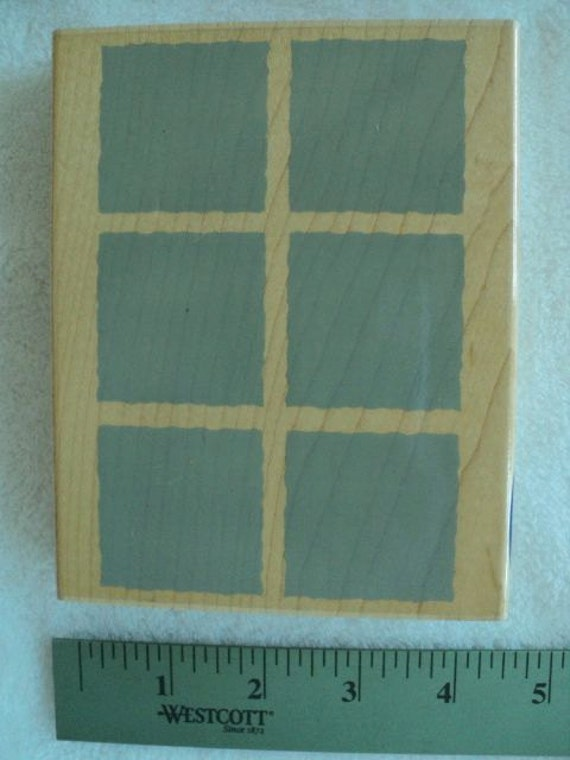 """Solid Block Group Wood Mounted Rubber Stamp - 4-1/2"""" x 5-1/2"""" - Stampabilities"""