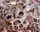 20 pieces lot mixed silver charms pendants