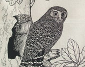 Morepork  Owl Tea towel