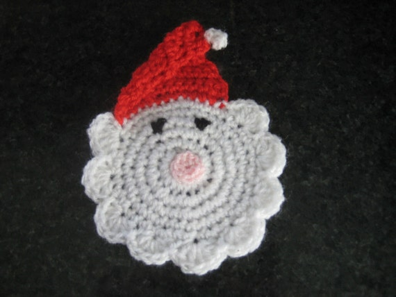 Free Crochet Santa Claus Coaster Pattern : Items similar to Santa Claus Coaster Crochet Pattern on Etsy