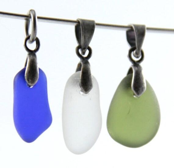 Sea glass Pendants  3