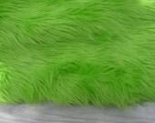 Lime Faux Fur Craft Size