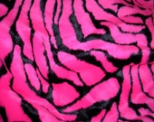 Hot Pink and Black Zebra Print Faux Fur