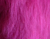 Hot Pink Sparkle with Glitter Strips Faux Fur Craft Size