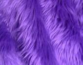 Purple Faux Fur Craft Size