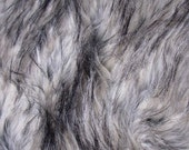 New Color White and Black Husky Faux Fur