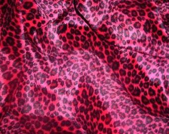 Red Cheetah Animal Print 1 Yard More Available