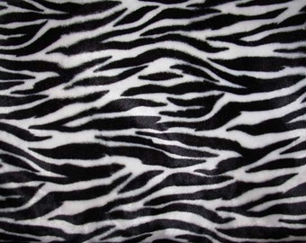 """Black and White Zebra Animal Print 36""""x60"""" (1 yard) more available"""